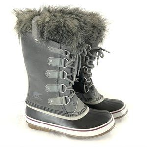 Sorel Womens Joan of Arctic Boots Leather Faux Fur
